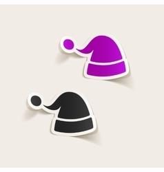 realistic design element santa hat vector image