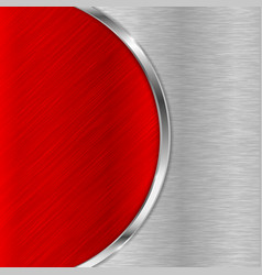 Red metal brushed texture vector