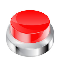 Red push button 3d vector