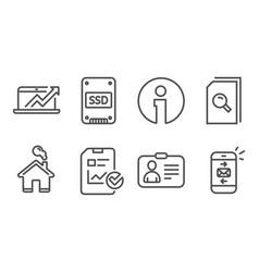 Report checklist sales diagram and search files vector