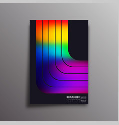 retro design poster with colorful gradient stripes vector image