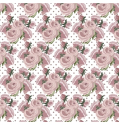Roses Vintage pattern dotted card vector