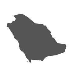 saudi arabia map black icon on white background vector image