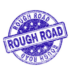 Scratched textured rough road stamp seal vector