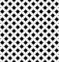 Seamless monochrome star pattern vector