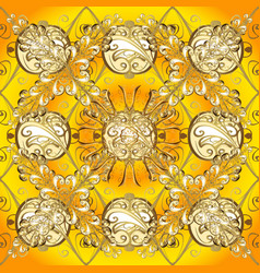 seamless pattern on yellow beige and brown colors vector image