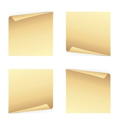 Set of note papers vector image