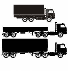 set of truck illustrations vector image