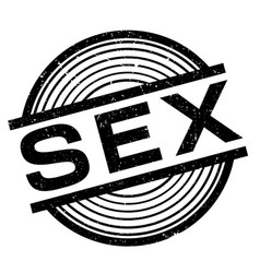 sex rubber stamp vector image