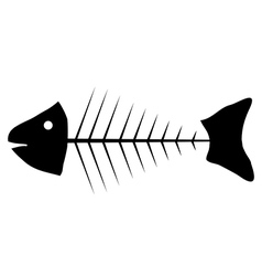 Skeleton of fish icon vector image
