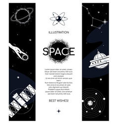 Space exploration - modern flat design style vector