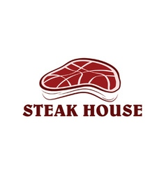 Steak house vector