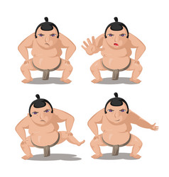Sumo japan culture cartoon character vector