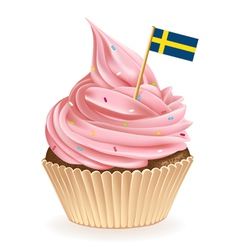 Swedish Cupcake vector image