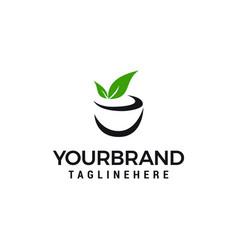 tea drink logo template design vector image