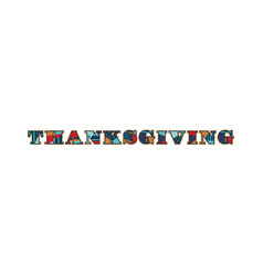 Thanksgiving concept word art vector