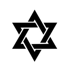 the star of david logo in the vector image