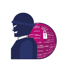 thief man with sphere browser vector image