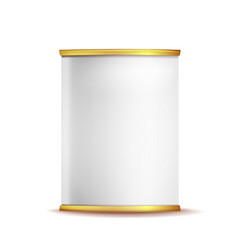 Tin box can template 3d realistic empty vector