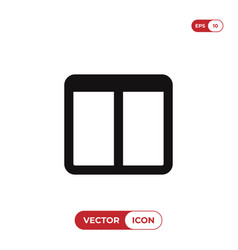 two columns layout icon vector image