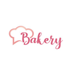 Typography bakery logo vector