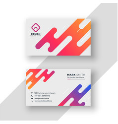 vibrant creative business card modern template vector image