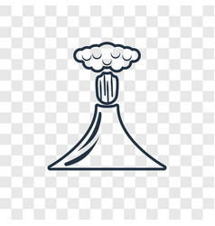 volcano concept linear icon isolated on vector image