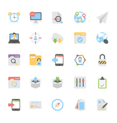 web design flat colored icons 6 vector image