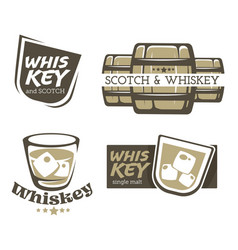 whiskey brewed and aged in casks and scotch vector image