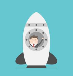 businessman in space rocket vector image vector image