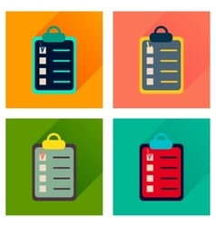Concept of flat icons with long shadow business vector