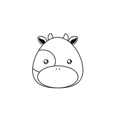 cow drawing face vector image