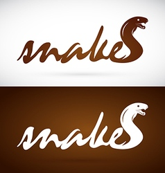 Image of an design snake is text vector