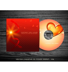 love style cd design vector image vector image
