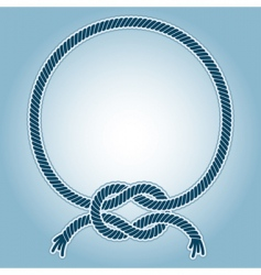 sea knot ring vector image vector image