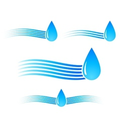 water drop with wave vector image