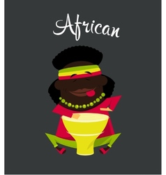 African black or Negro man character Africa vector image