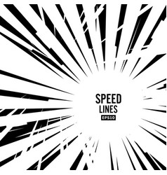 comic speed lines graphic explosion of vector image