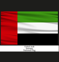 national flag of united arab emirates vector image vector image
