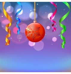 New year composition vector image