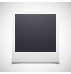 Photo frame isolated on white background vector image