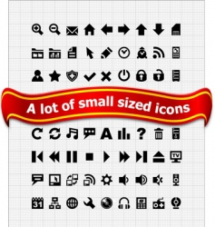 set of small web icons vector image