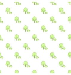 Simple green car pattern vector