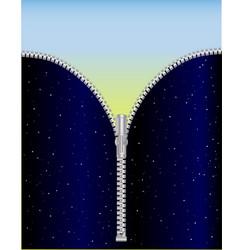 Sky zipper vector