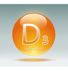 vitamin D3 vector image vector image