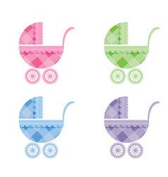 Baby buggy vector