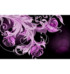 Background of roses vector image vector image