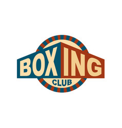 boxing club emblem logo for gym sport sign vector image vector image