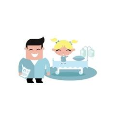 child kid hospital vector image vector image