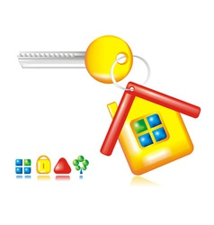 Conceptual symbol of a house vector image vector image